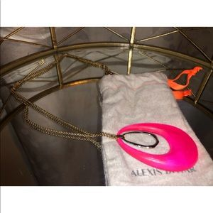 Alexis Bittar Hot Pink Lucite Necklace